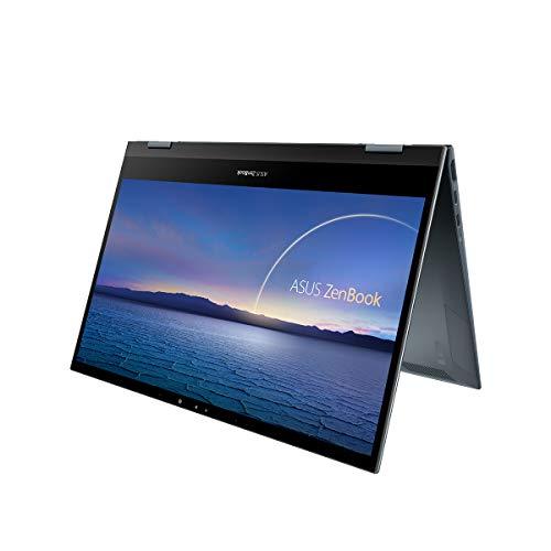 """ASUS ZenBook Flip 13 UX363EA-EM087T - Portátil Convertible de 13.3"""" FullHD (Intel Core i5-1135G7, 8GB RAM, 512GB SSD, Intel Iris Xe Graphics, Windows 10 Home ) Gris Pino - Teclado QWERTY español"""