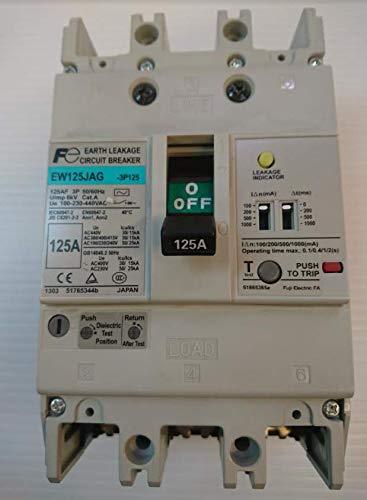Fuji Electric(富士電機)一般配線用漏電遮断器 G-TWINシリーズ スタンダード品 汎用形EW125JAG-3P125A 定格使用電圧(V)AC100/230/440 B07L28Z84R