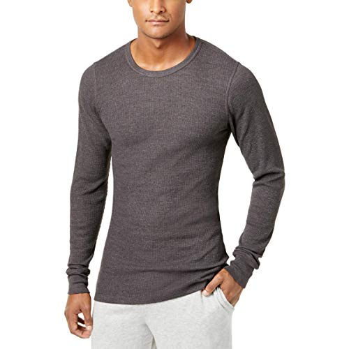 Alfani Mens Thermal Waffle Undershirt Gray M from Alfani