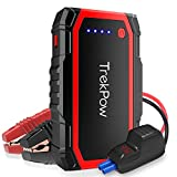 Car Jump Starter, TrekPow A18 800A Peak Auto Battery Booster(up to 6.0L Gas/5.0L Diesel Engines) Portable Jumper Pack with Upgraded Display Smart Jumper Cables Quick Charge 3.0, LED Flashlight