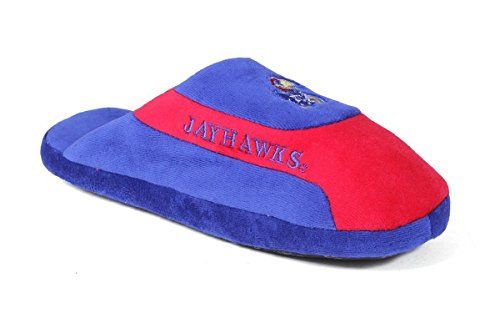 College Happy Mens Feet Low Womens Kansas and NCAA OFFICIALLY Slippers LICENSED Pro Jayhawks p06qp4