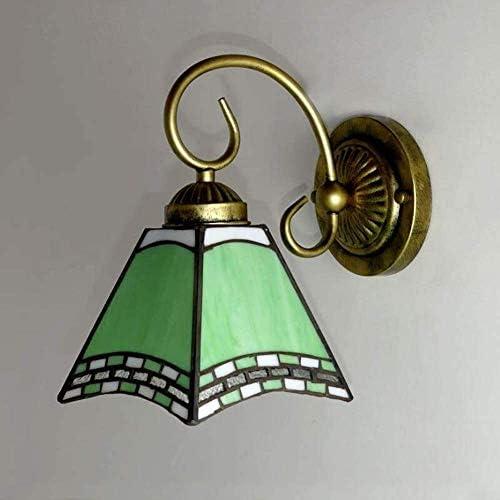 NEXFAN Tiffany-Art-Wand-leuchter-Lampe, Mittelmeer-buntglas-Spiegel-Front-lampenfassung, Handgefertigte Vintage Neben Wandleuchte Für Schlafzimmer Wohnzimmer Flur