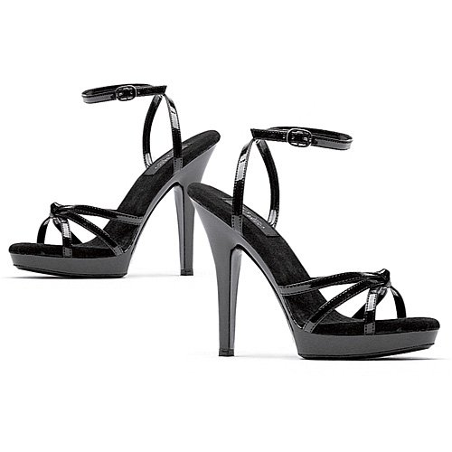 - Ellie Shoes Women's 5 inch Heel Strappy Sandal with Ankle Strap (Black;12)