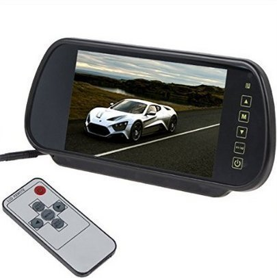 eBoTrade 7 Inch 16:9 TFT LCD Widescreen Car Rearview Monitor Mirror with Touch Button