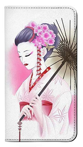 RW2579 Japanese Traditional Geisha Kimono PU Leather Flip Case Cover for Sony Xperia XA2 ()
