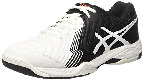 Asics Gel-Game 6, Zapatillas de Tenis para Hombre Blanco (White/black/shocking Orange)