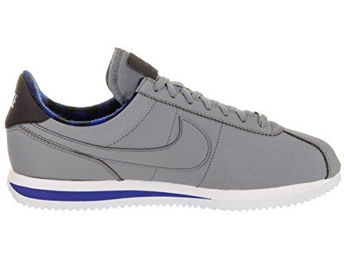 Nike Cortez Grundlæggende Præmie Kølig Grå / Kølig Grå / Hyper Blå 8Teq7GwBqK