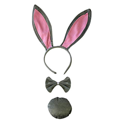 Pedophile Scary Bunny Rabbit Costumes - Cute Rabbit Ears Tail Bow Tie