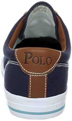 Polo Ralph Lauren Manar Vaughn Duk / Läder Snörning Avslappnad Flottan