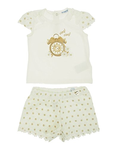 Mayoral 28-01256-010 - Crochet Short Set for Baby-Girls 24 Months Champagne