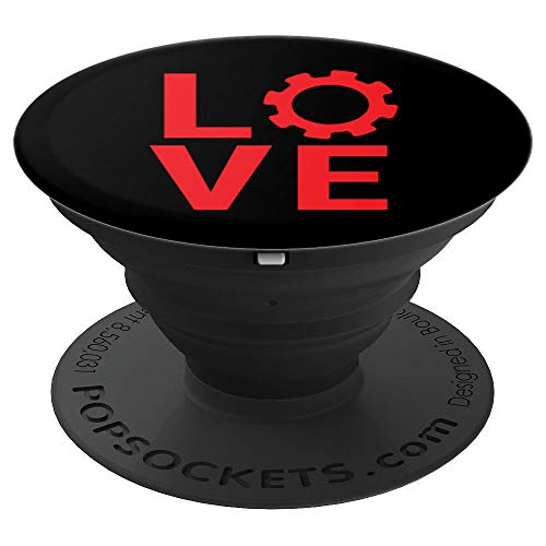 Love Mechanical Engineer Gift Engineering Girlfriend Wife - PopSockets Grip and Stand for Phones and Tablets