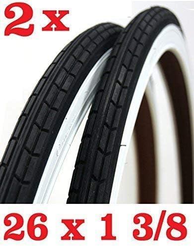 Oferta - 2X Neumático para Bicicleta Tamaño 26 X 1 3/8 - Blanco ...
