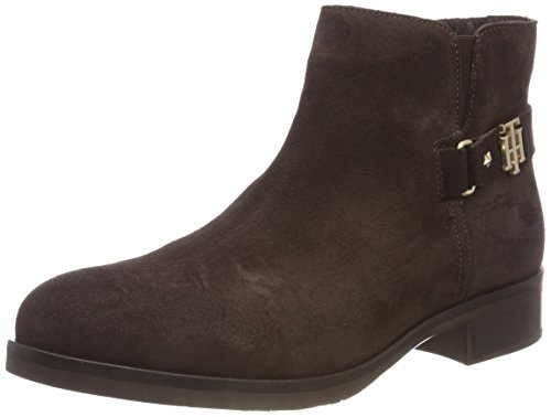 Ankle Th 025 Brown Buckle Boots Ebony Bootie Tommy Hilfiger Women's Suede xpwUEYgWq
