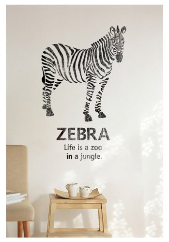 J BOUTIQUE STENCILS TEMPLATE Animal Zebra- Large Size - Reusable Airbrush wall Stencils for DIY decor Walls furniture Painting kids Rooms Cars