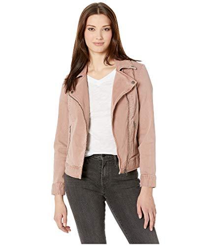 Liverpool Women's Moto Jacket in Slub Stretch Twill, Luscious Pink, L
