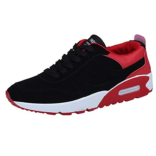 Jogging Mixte Léger Gym Homme Respirantes Zycshang Running Trainers Chaussures Adulte Shoes Athlétique Plates Rouge Outdoor Air Casual Baskets Mode Fitness ICqBxqST