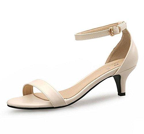 de de señoras Los con con la palabra las hebilla la ocasionales sandalias zapatos sandalias pie mujeres KUKI manera de la abren las 2 del multa xUEqR4wnd