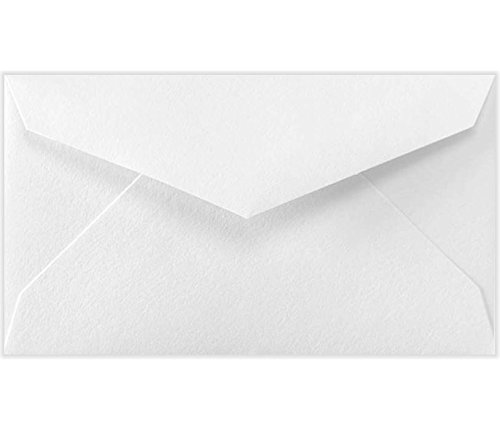 LUX Paper #3 Mini Envelopes, 2 1/8'' x 3 5/8'' - 70lb. Bright White, 250 Pack (LEVC904-250) by LUXPaper