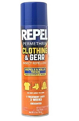 Repel Permethrin Clothing & Gear Insect Repellent Aerosol 6.5 oz (184 g),3 pk