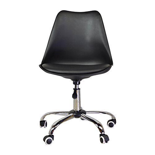 Design Tree Home Jacob Office Chair with Aluminum Legs, Black (Replica Chair Design)