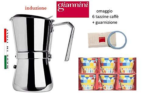 Paganohome Giannini - Cafetera de inducción 3 Tazas de Acero ...