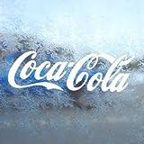 Aufkleber Coca Cola White Decal Window Laptop Vinyl White Sticker