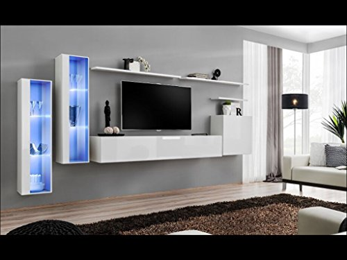 SHIFT XI Seattle Collection High Gloss Living Room Furniture Floating TV Cabinet European