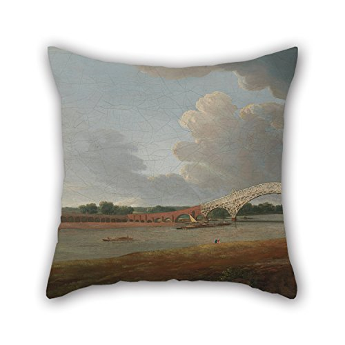 - Pillow Covers Of Oil Painting Francis Towne - Old Walton Bridge,for Wife,bar,father,dinning Room,teens,home Office 20 X 20 Inches / 50 By 50 Cm(twice Sides)