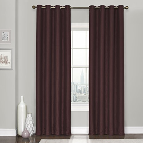 Eclipse Clara Thermaweave Blackout Window Curtain Panel, 52