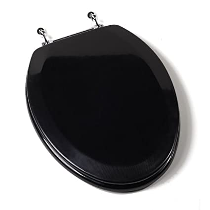 Black Elongated Toilet Seat.Comfort Seats C1b4e2 90ch Deluxe Molded Wood Toilet Seat With Chrome Hinges Elongated Black