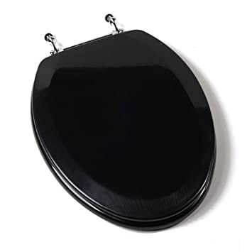 black elongated toilet seat cover. comfort seats c1b4e2-90ch deluxe molded wood toilet seat with chrome hinges, elongated, black elongated cover m