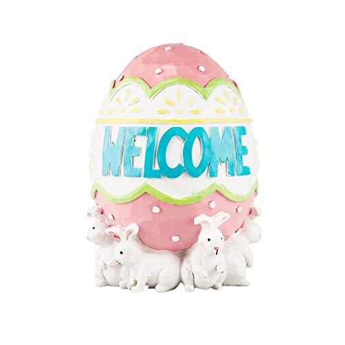 PoPo Kids Bunny Rabbit Easter Egg Handpainted Figurine