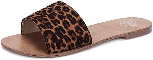 CAMEL CROWN Women's Slide Sandals Open Toe Low Heel Slip on