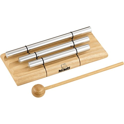 Chime Energy Set (Nino Percussion NINO580 Handheld Energy Chimes, 3 Rows, Natural Finish)