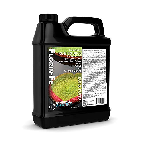 Brightwell Aquatics Florin-Fe (Koi & Pond), Iron Supplement for Improved red and Green Coloration of Pond Plants, 2 L