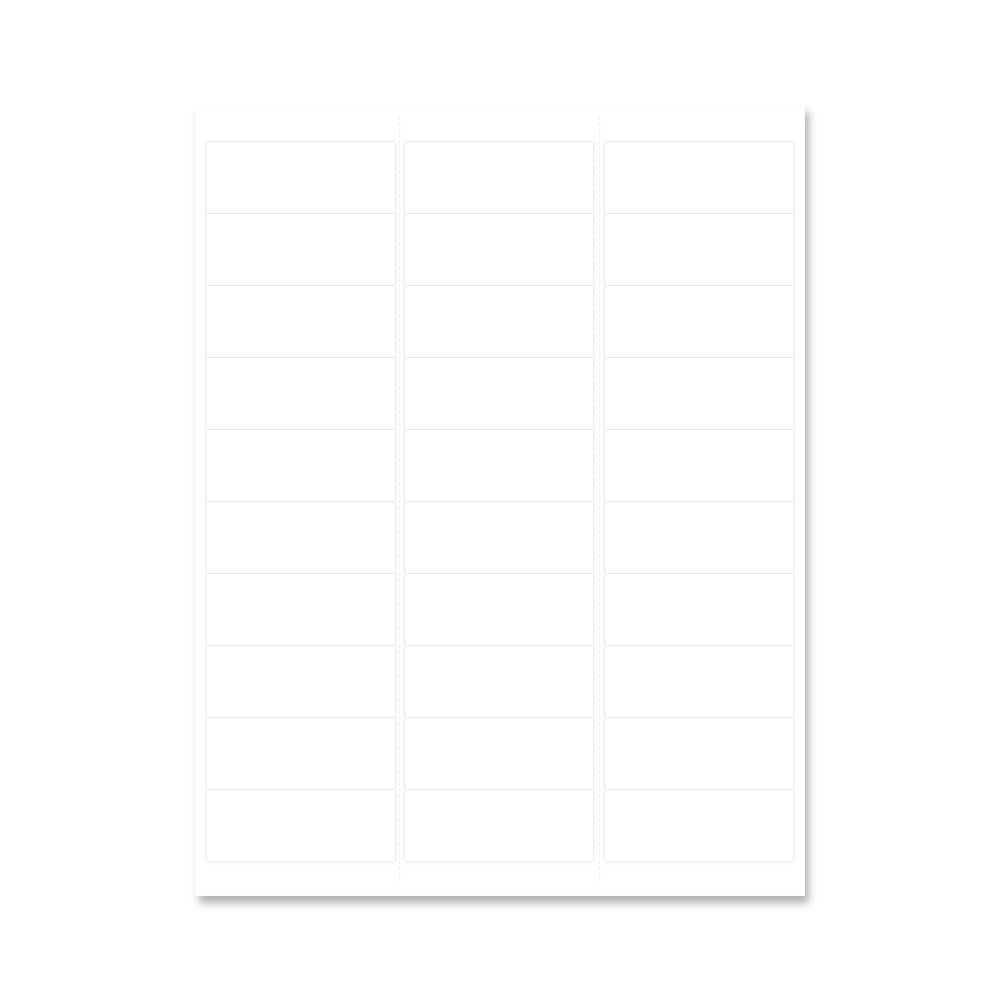 PDC Healthcare WBW-AX73 Chart Labels Wristband Laser, Portrait, Premium, 2-5/8'' x 1'', 30 Labels per Sheet, White, 4 Packs of 250 Sheets per Case (Pack of 1000)