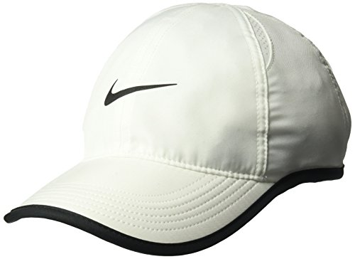 Nike Tennis - NIKE Women's Tennis Featherlight Cap,White/Black/White/Black,One Size