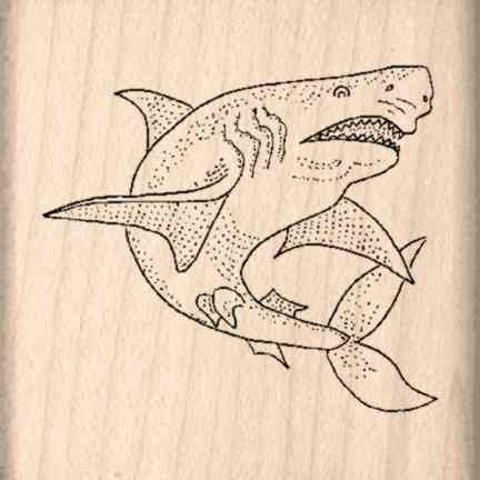 Stamps by Impression ST 0549a Shark Rubber Stamp