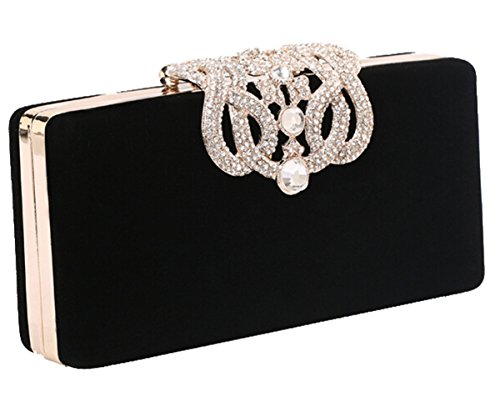 Mooncolour Luxury Crystal Diamond Encrusted Shell Wallet Evening Bag