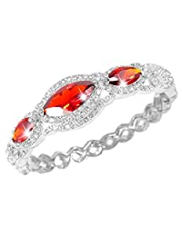 Ever Faith Bridal 3 Marquise-Shape Clear Cubic Zirconia Bracelet Austrian Crystal