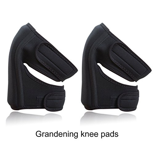 Garden Knee Pads,Ultra-Comfort Neoprene Water-resistant (1 Pair,Black)