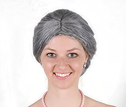 Amazon.com  Women s Nanna Costume Wig Unisex Adult Mom Wig - Grey  Toys    Games 85bca2280a