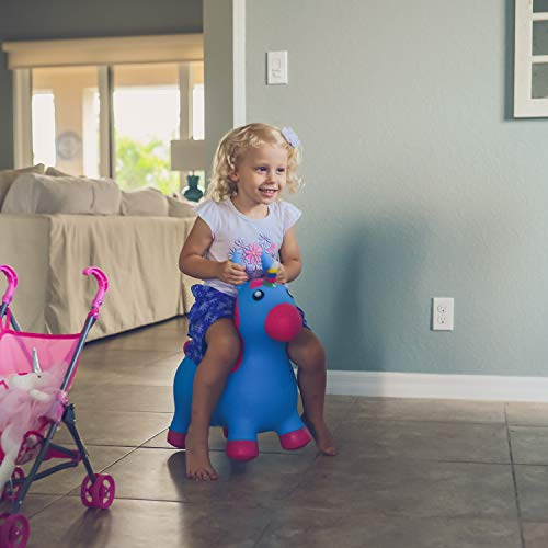Kiddie Play Hopper Ball Unicorn Inflatable Hoppity Hop Bouncy Horse (Pump Included) by Kiddie Play (Image #7)