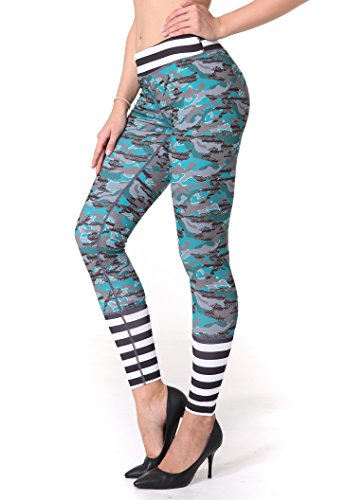 ZOANO Womens Exercising Printed Leggings