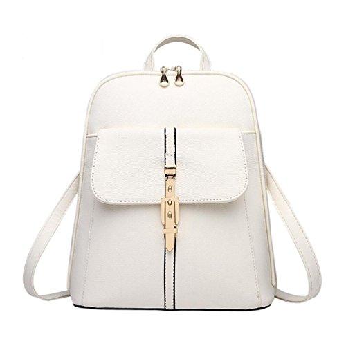 XibeiTrade - Bolso mochila  de Material Sintético para mujer beige