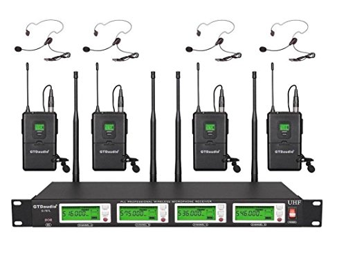 GTD Audio G787L UHF Diversity Wireless Microphone Lapel Lavaliere Mic by GTD Audio