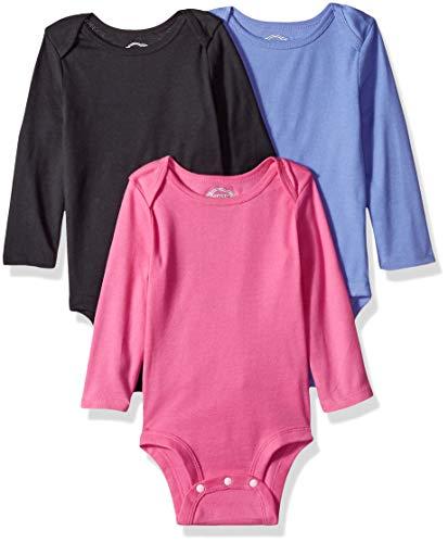 Lamaze Organic Baby Baby Girls Organic 3 Pack Longsleeve Bodysuits, Pink -