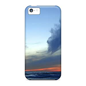For Iphone 5c Fashion Design Lovely Sunset On A Sea Horizon Case