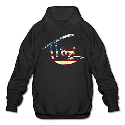 Men's Hooded Sweatshirt Tanner Fox Hoodies Black S (Fox Black Sweatshirt)