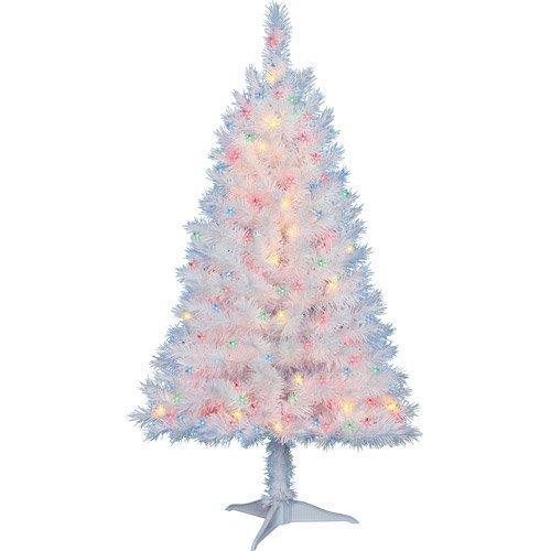 Multi Color Pre Lit Christmas Trees: Amazon.com: 4 Ft. Pre-Lit Multi Color White Indiana Spruce